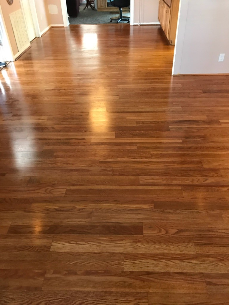 WOOD FLOOR CLEANING - AFTER