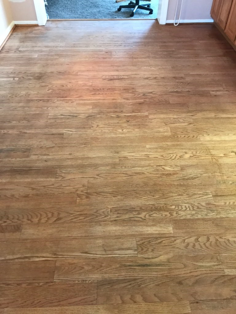 WOOD FLOOR CLEANING - BEFORE