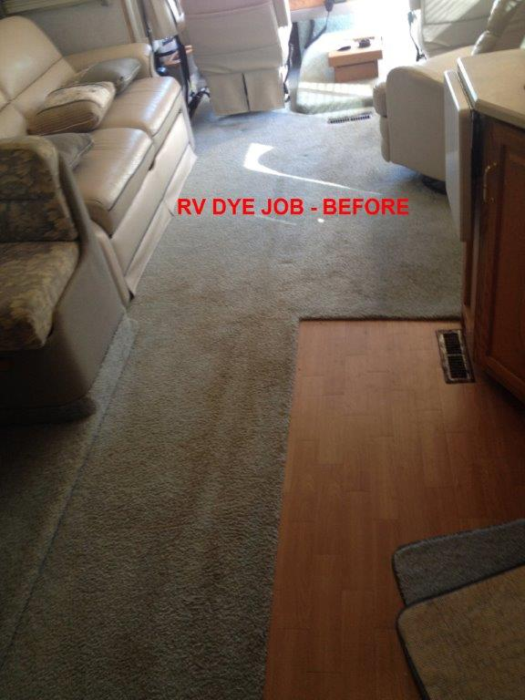 RV CARPET CLEANING / DYE JOB - BEFORE