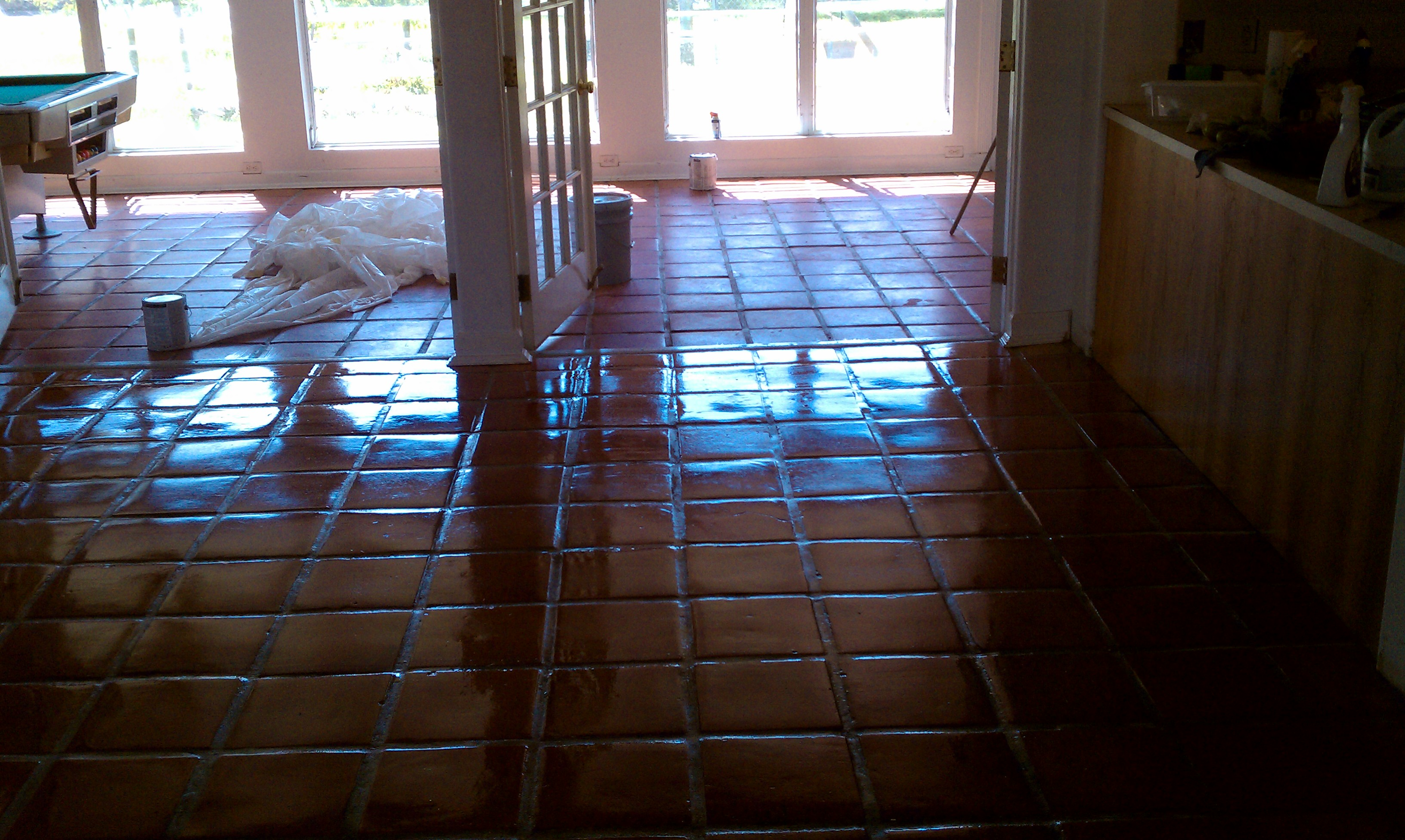 TERRACOTTA TILE CLEANING & SEALING